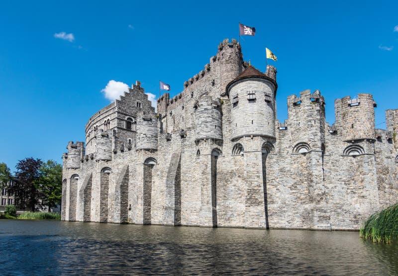 Kasztel Gent za swój moad, Flandryjski, Belgia zdjęcia royalty free