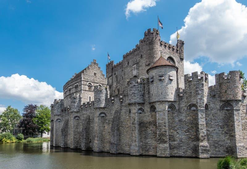 Kasztel Gent za swój moad, Flandryjski, Belgia obrazy royalty free