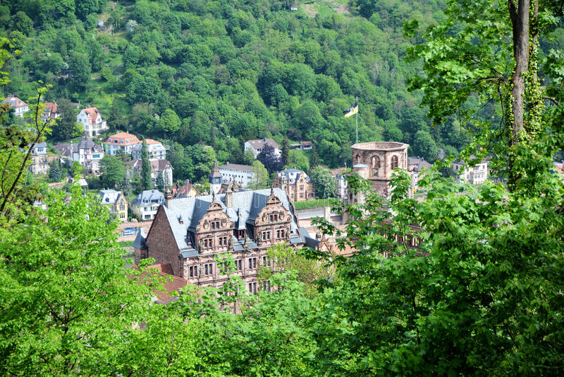 Kasztel Heidelberg obrazy royalty free