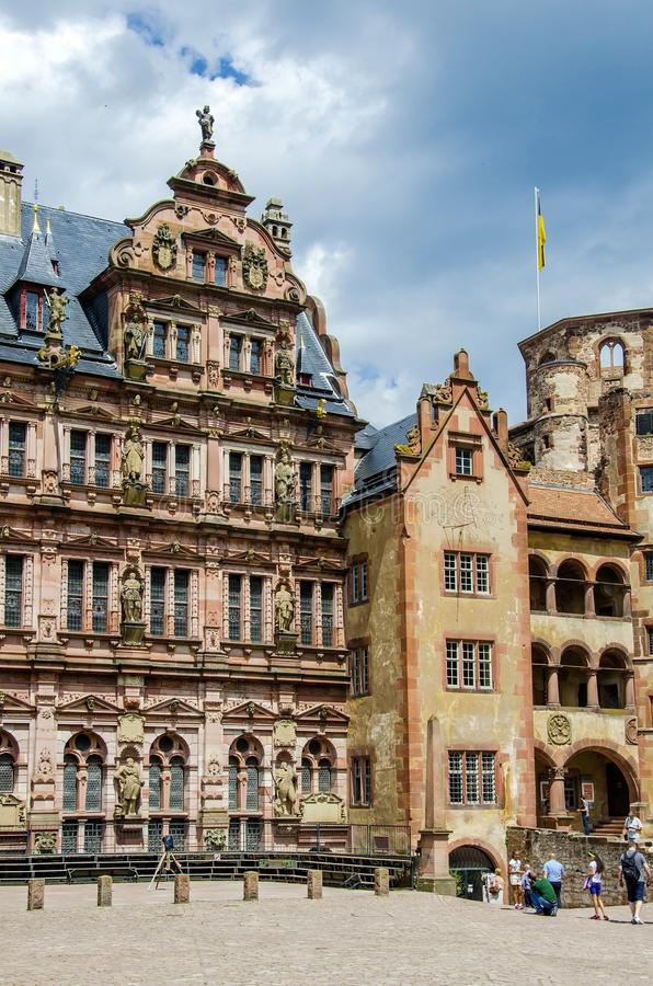 Kasztel Heidelberg (Heidelberger Schloss) obrazy royalty free