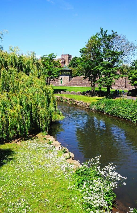 Kasztel i rzeka, Tamworth obrazy royalty free