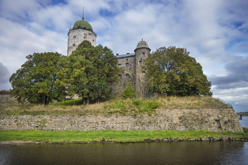 Kasztel i wierza St. Olav. Vyborg. Rosja zdjęcia stock