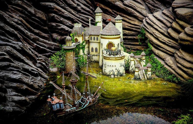 Kasztel książe Eric, Disneyland Hong kong obrazy royalty free
