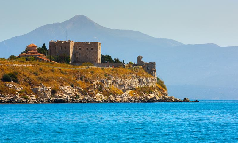 Kasztel Lykourgos Logothetis w Samos wyspie fotografia royalty free