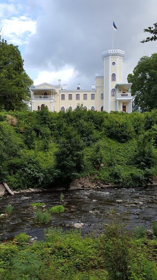 Kasztel na brzeg rzeki obrazy royalty free