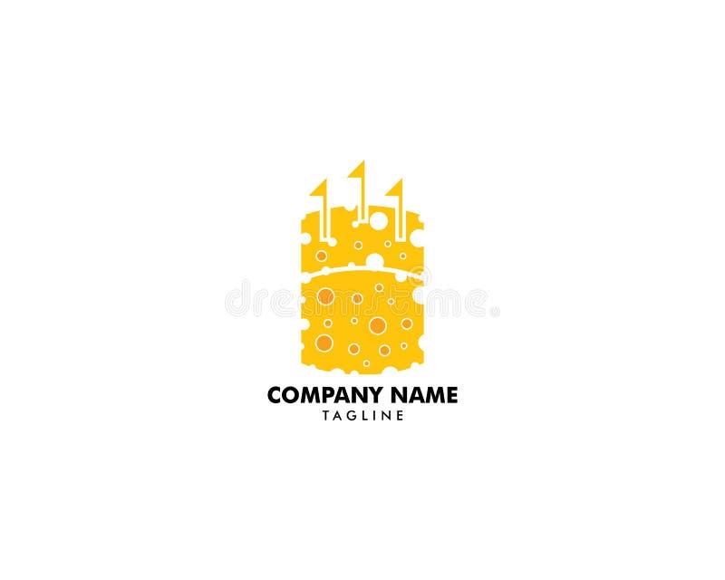 Kasztel od serowego logo projekta ilustracji