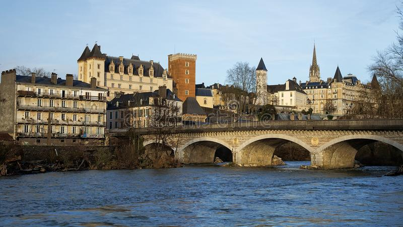 Kasztel Pau, Francja fotografia stock
