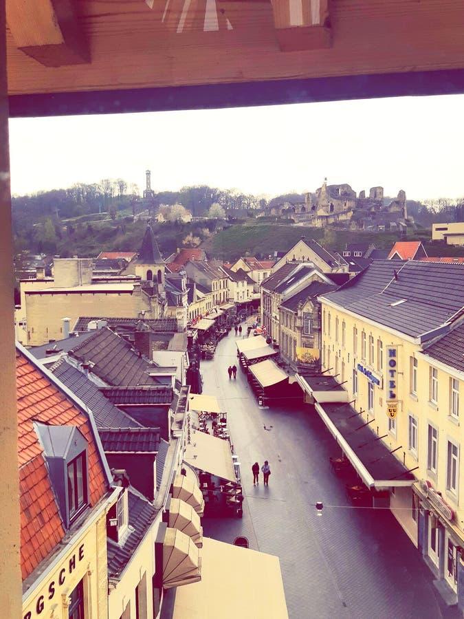 kasztel ruiny Miasto Valkenburg Miasto Podziemni tunele dziejowy miejsce fotografia royalty free
