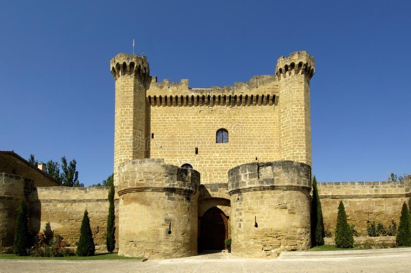 Kasztel Sajazarra, los angeles Rioja, Hiszpania obrazy royalty free