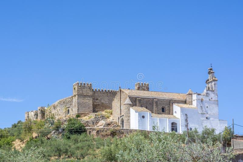 Kasztel Santa Olalla del Cala fotografia stock