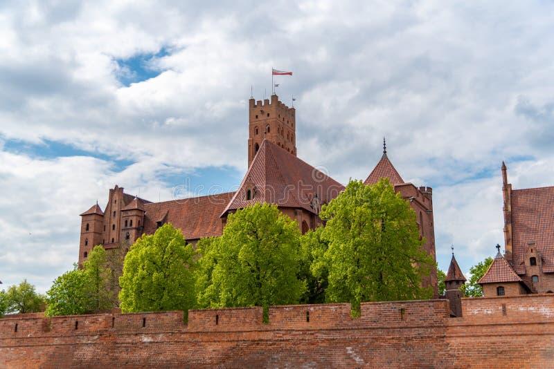 Kasztel Teuto?ski rozkaz w Malbork jest xiii wiek kasztelem lokalizowa? blisko miasteczka Malbork, Polska obrazy royalty free