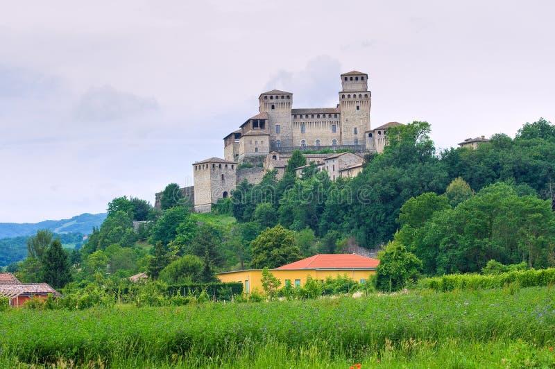 Kasztel Torrechiara. emilia. Włochy. obraz stock
