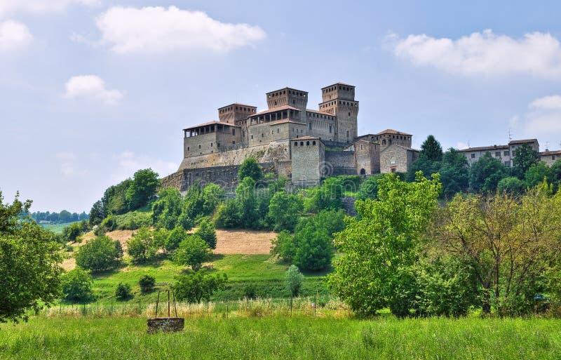 Kasztel Torrechiara. emilia. Włochy. obrazy royalty free