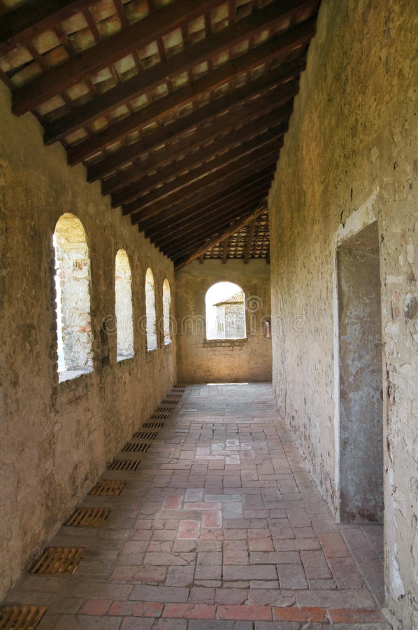 Kasztel Torrechiara. emilia. Włochy. zdjęcie stock