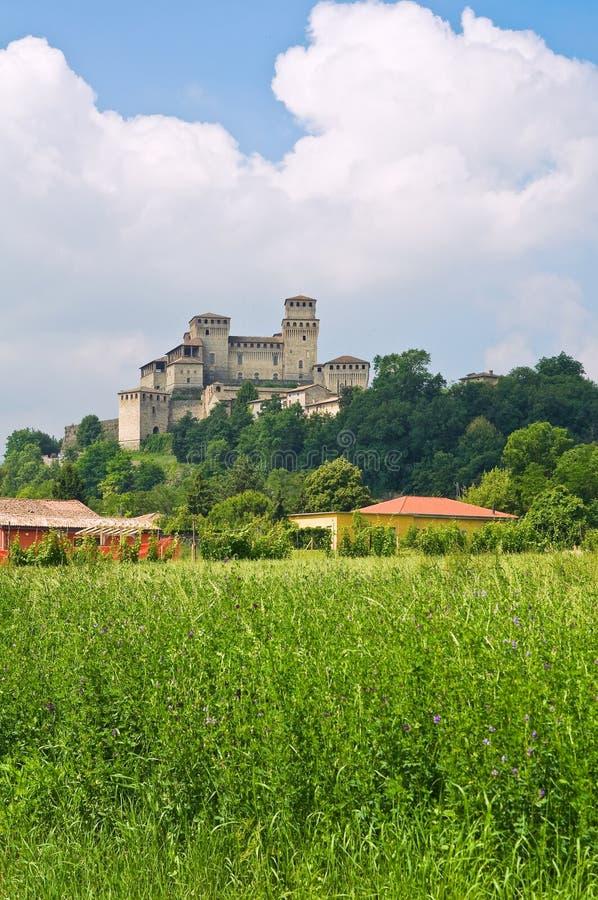 Kasztel Torrechiara. emilia. Włochy. zdjęcia stock