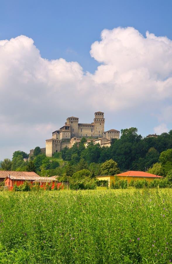 Kasztel Torrechiara emilia Włochy zdjęcie stock