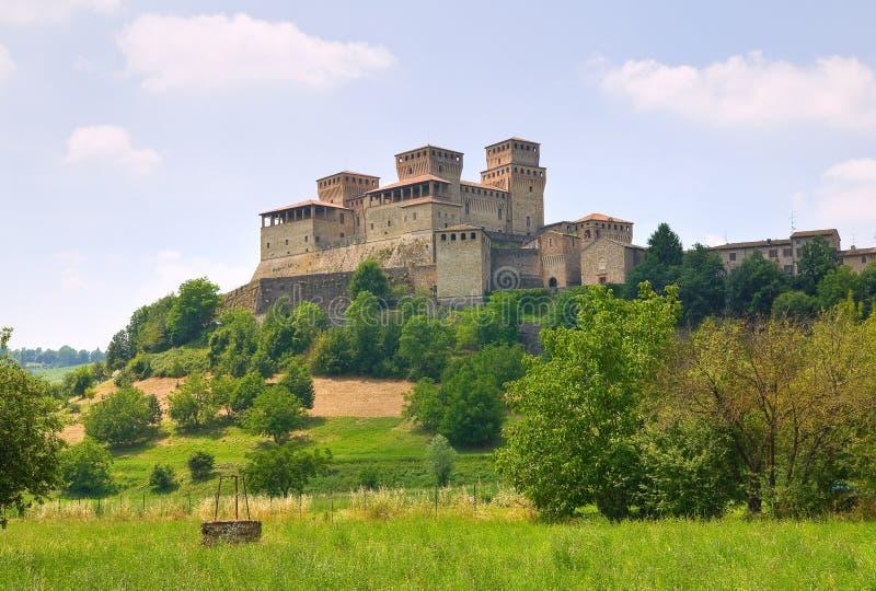 Kasztel Torrechiara emilia Włochy obraz stock
