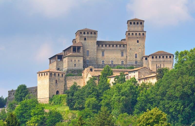 Kasztel Torrechiara emilia Włochy zdjęcia royalty free