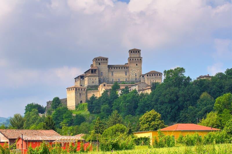 Kasztel Torrechiara emilia Włochy zdjęcia stock