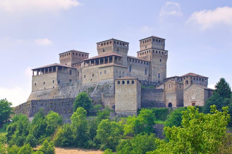 Kasztel Torrechiara emilia Włochy obrazy royalty free