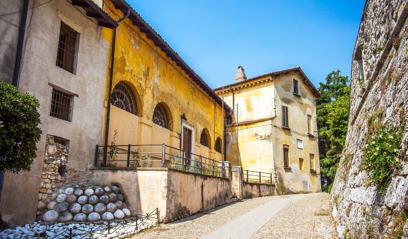 Kasztel w Brescia w Włochy zdjęcie royalty free