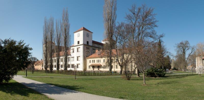 Kasztel w grodzkim Bucovice w republika czech obraz royalty free