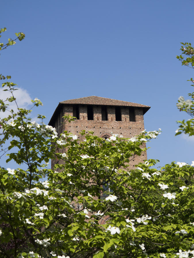 Kasztel w Pavia, Włochy zdjęcie stock