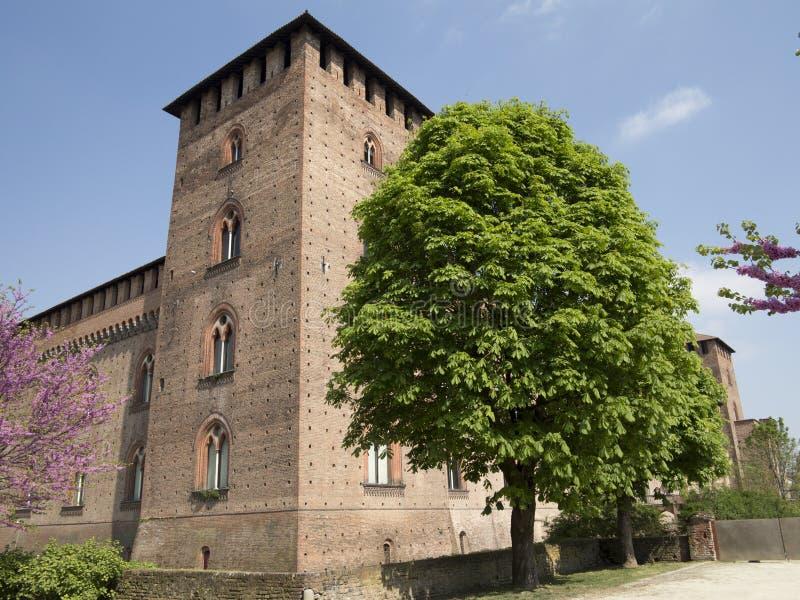 Kasztel w Pavia, Włochy obraz stock