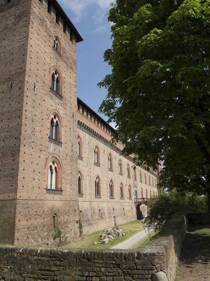 Kasztel w Pavia, Włochy zdjęcie royalty free