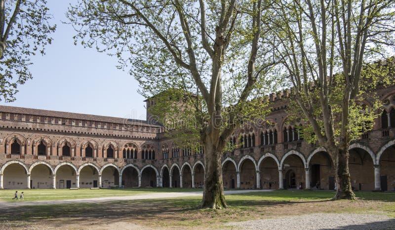 Kasztel w Pavia, Włochy zdjęcia royalty free