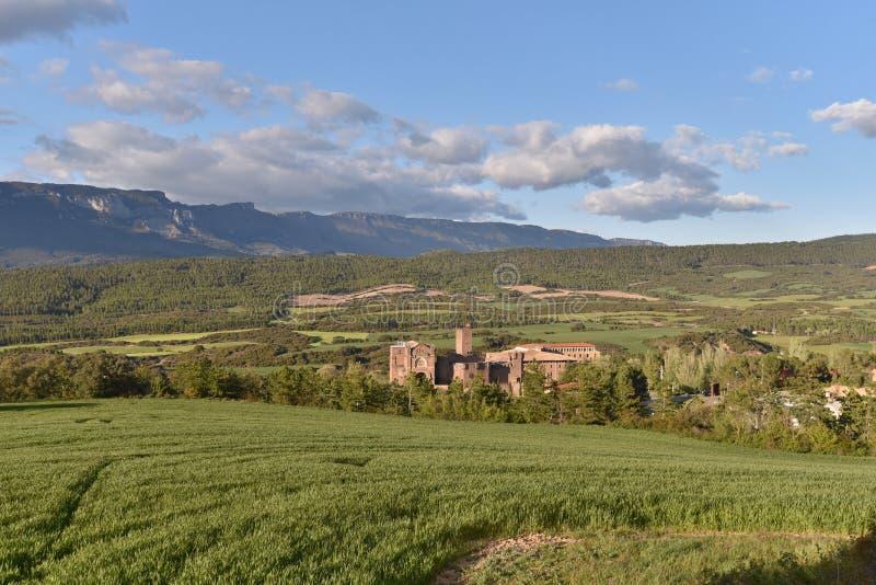 Kasztel Xavier w wzgórzach Navarra fotografia stock