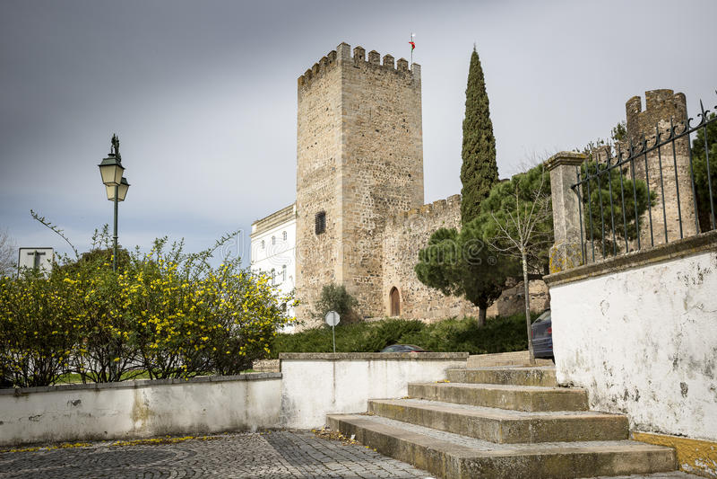 Kasztel Zmieniam robi Chao miasteczku, okręg Portalegre, Portugalia zdjęcie royalty free