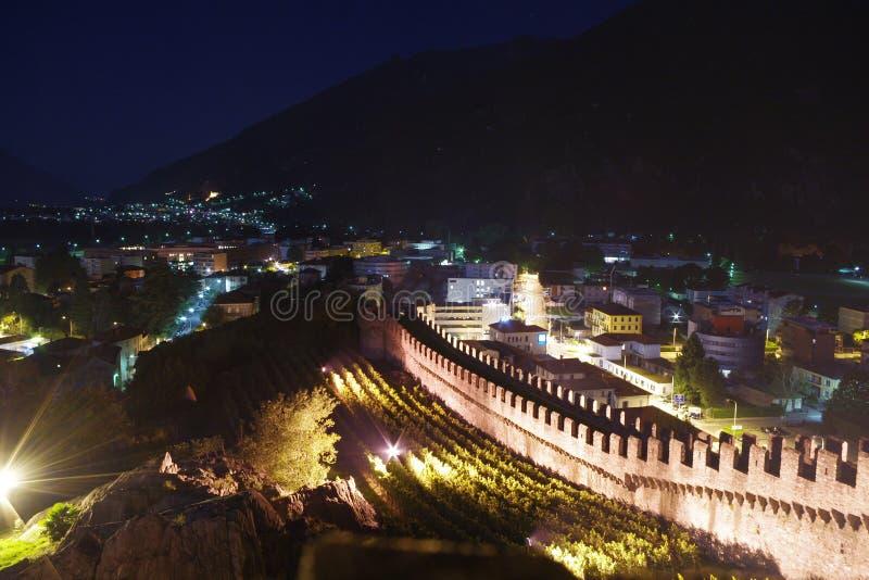 Kasztele Bellinzona, w Szwajcaria fotografia stock