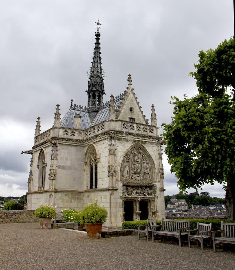 Kasztele Loire w Francja Grobowiec Leonardo Da Vinci obraz stock