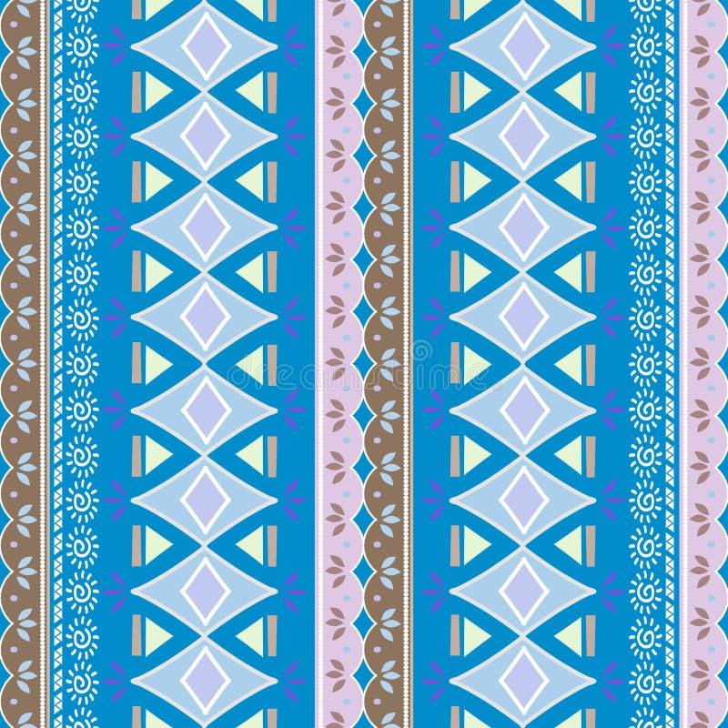 kat folkloru geometryczny ornament Plemienna etniczna wektorowa tekstura Bezszwowy pasiasty wzór w azteka stylu Postaci plemienna ilustracji