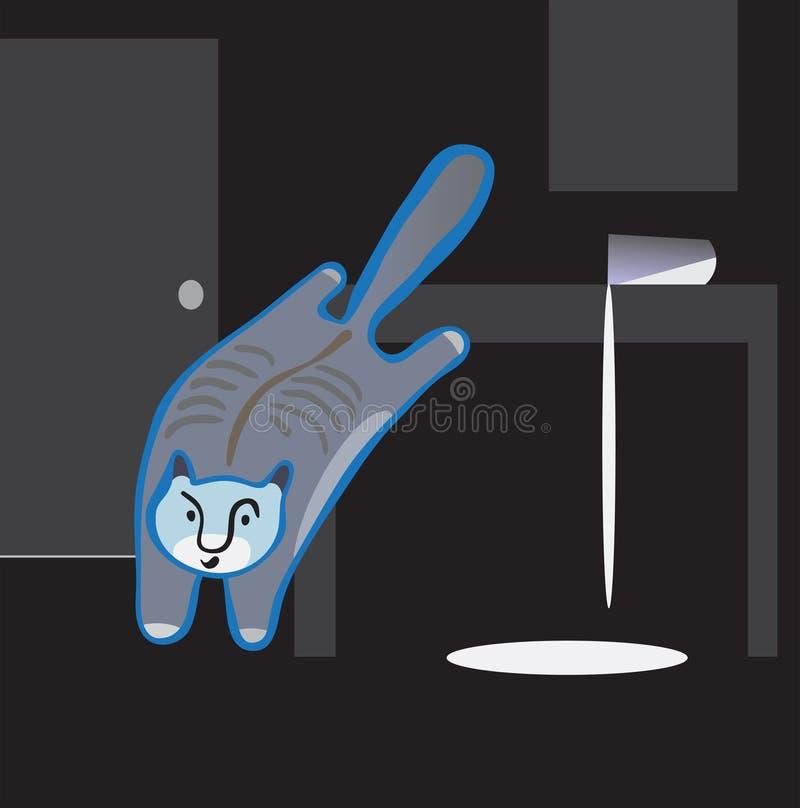 Kat het springen. royalty-vrije illustratie