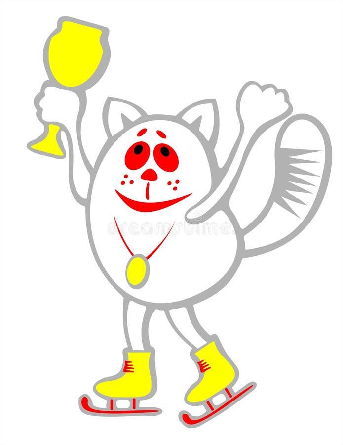 Kat-kampioen stock illustratie