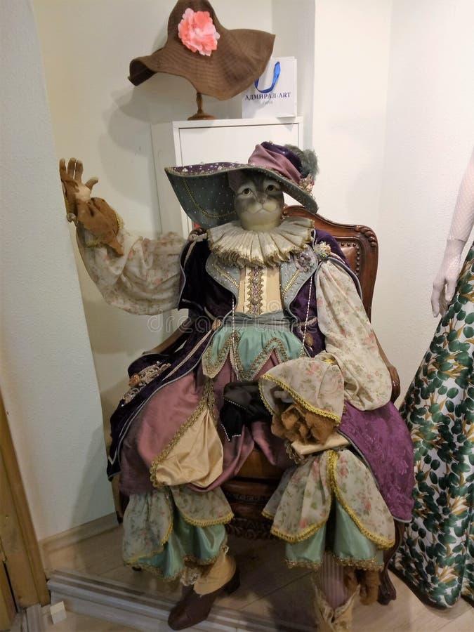 Kat in kostuum royalty-vrije stock afbeelding
