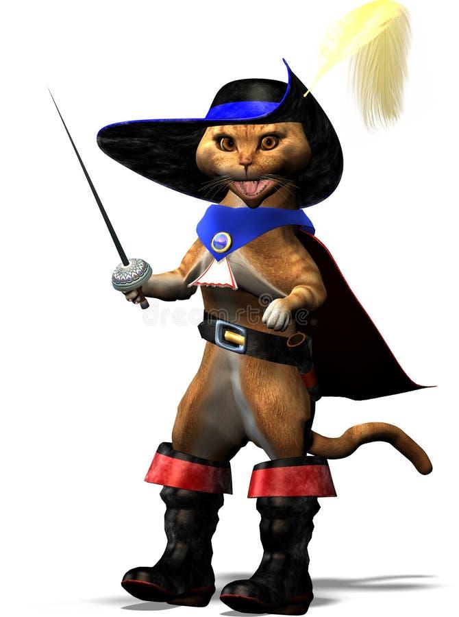 Kat in Laarzen vector illustratie