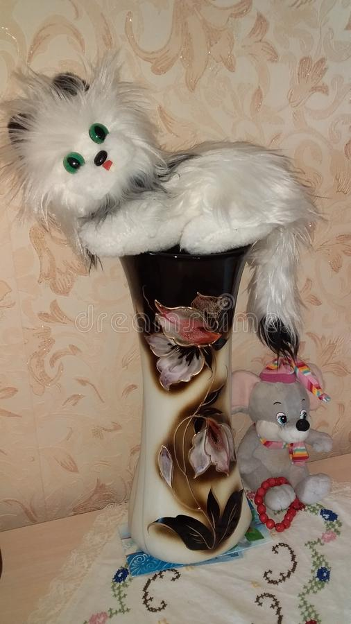 Kat & Muis royalty-vrije stock afbeelding
