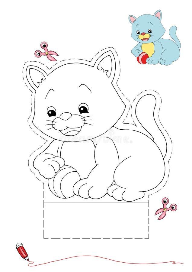 Kat om kleur te zijn en te verwijderen vector illustratie