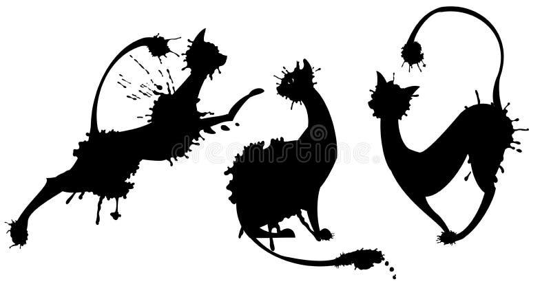 Kat-vlekken stock illustratie