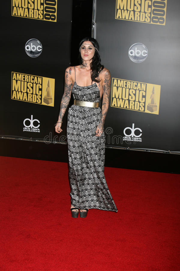 Kat Von D. Kat VonD arriving to the 2008 American Music Awards at the Nokia Theater in Los Angeles, CA.November 23, 2008.2008 Kathy Hutchins / Hutchins Photo stock image