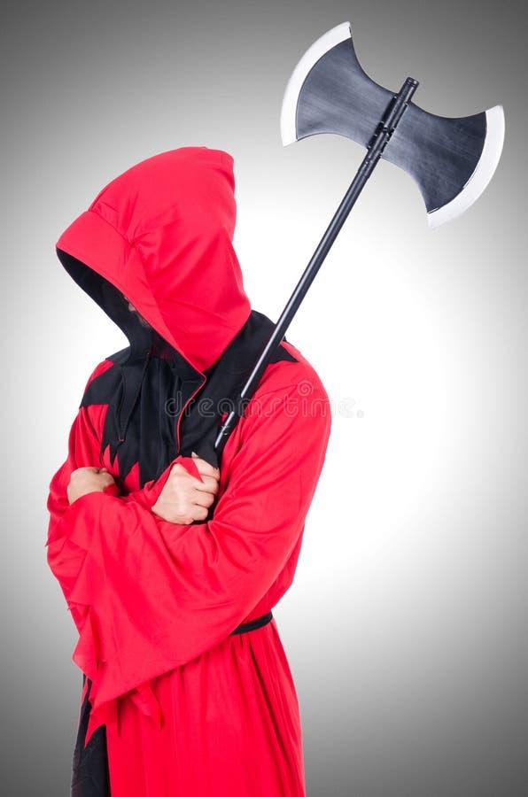 Kat w czerwonym kostiumu zdjęcie royalty free