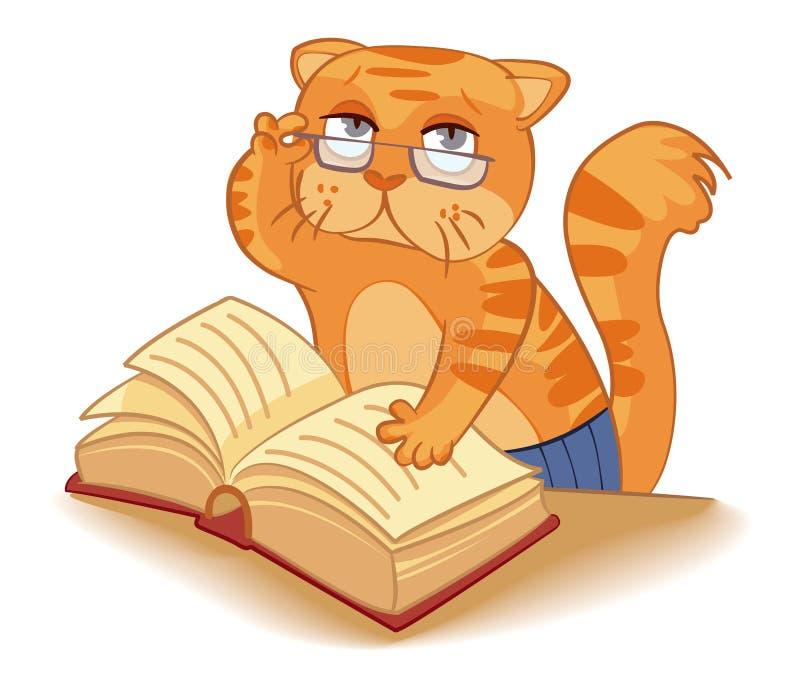 Kat - wetenschapper royalty-vrije illustratie