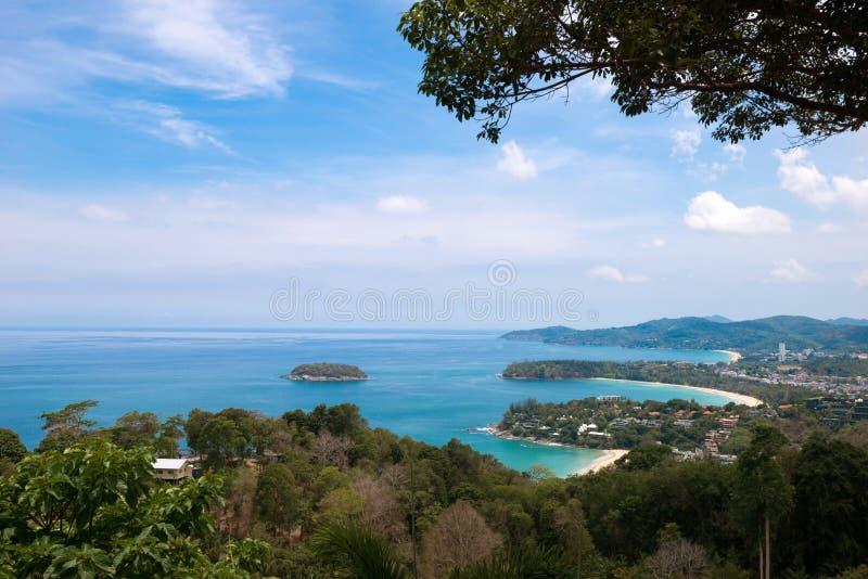 Kata和Karon观点在普吉岛海岛 免版税库存照片
