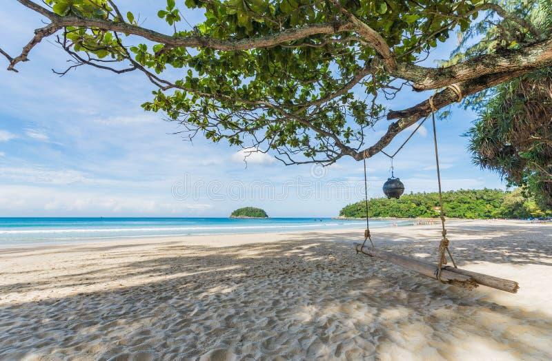 kata海滩普吉岛,泰国 免版税库存图片