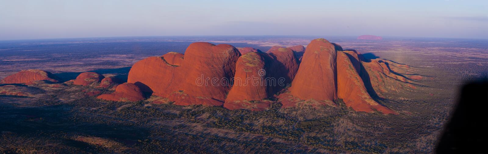 Kata Tjuṯa. Uluṟu-Kata Tjuṯa National Park is the location of a world-renowned sandstone monolith, which stands 348 metres in height and bears royalty free stock photography