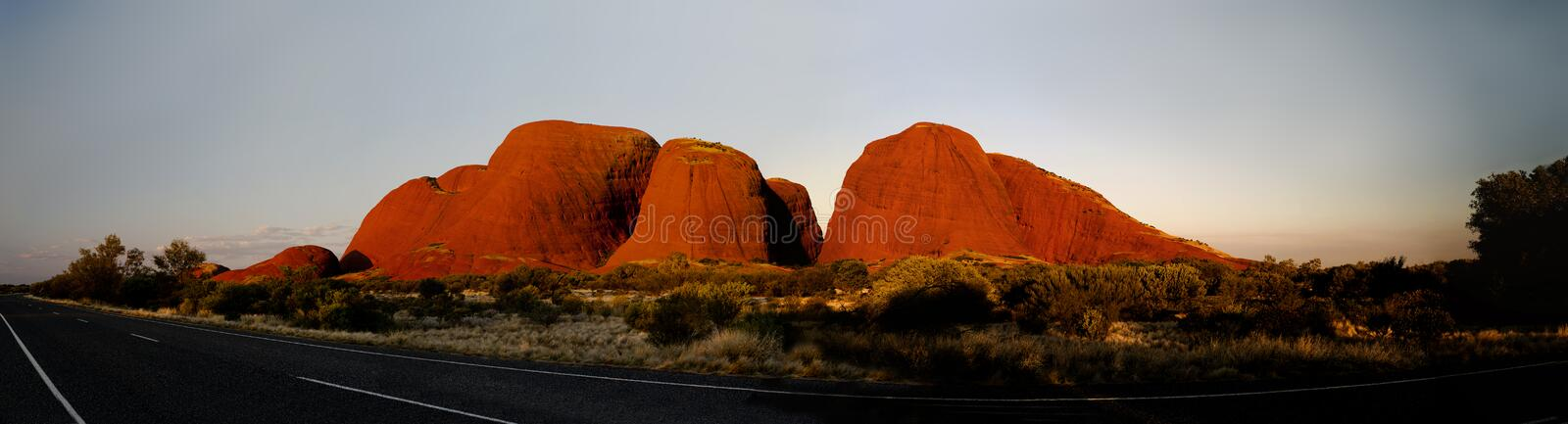 Kata Tjuta. Uluṟu-Kata Tjuṯa National Park is the location of a world-renowned sandstone monolith, which stands 348 metres in height and bears various stock photos