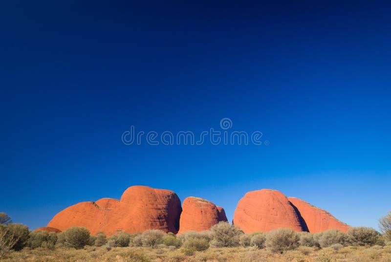 Kata Tjuta das Olgas im Hinterland Australien lizenzfreie stockfotos